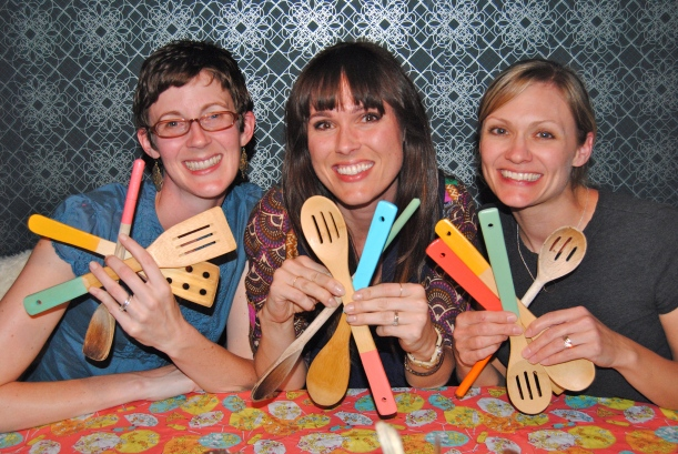 The final product:  Spoons get Prettified!