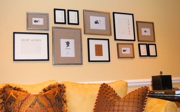 West Elm Gallery Frame silver and black gallery wall