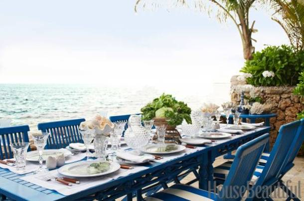 Cobalt Blue Outdoors HouseBeautiful