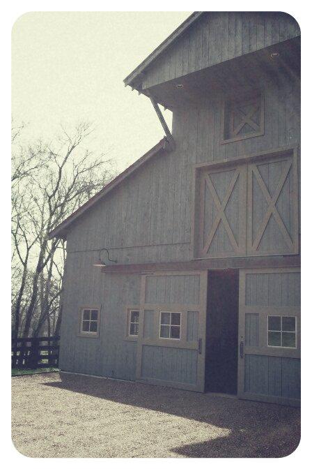 Beautiful blue barn.